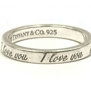 """Authentic Tiffany & Co. """"I Love You"""" Notes Ring"""